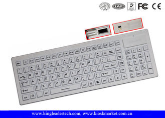 Industrial Silicone Wireless Keyboard IP67 Compliance Built - In Touchpad