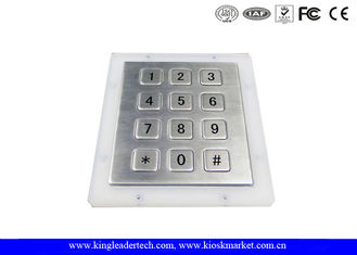 Customizable Flat 12 Keys Industrial Numeric Keypad For Hard Environment Use
