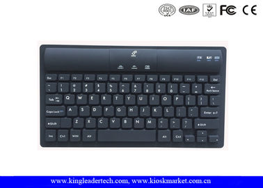 Black Wireless Bluetooth Silicone Industrial Keyboard With Usb Charging